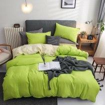 4-piece simple modern design quilted bedding set