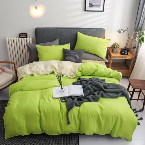 4-piece simple modern design quilted bedding set