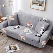 Grey Cute Cats Printed Sofa Covers