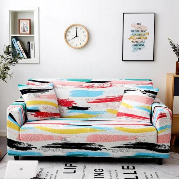 Color Ink Lines Couch Covers