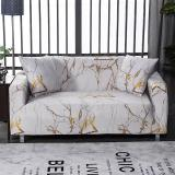 White Gold Foil Marble Sofa Covers