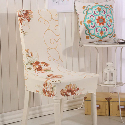 Waterproof Office Chair Cover Beige Flower