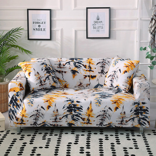 Maple Leaf Floral Printed Sofa Covers