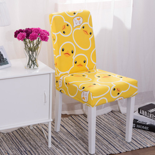 Waterproof Handmade Chair Covers Yellow duck