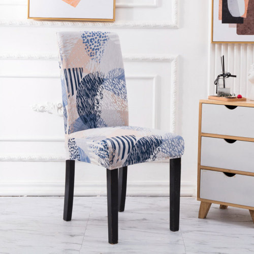 Waterproof Handmade Chair Covers Gray Leaf Printing