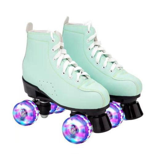 Mint Green Adult Womens Outdoor Retro Roller Skates