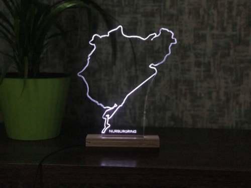 Nürburgring Nordschleife LED Lamp German Grand Prix Formula 1 Race Track F1 circuit