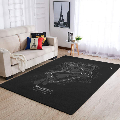 Formula One F1 Great Britain SilverStone Race Track Rug & Carpet