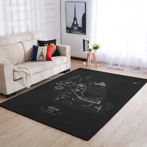 Formula One F1 Russia Sochi Race Track Rug & Carpet
