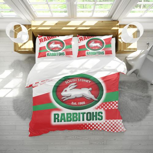 NRL South Sydney Rabbitohs Edition Duvet Cover & 2 Pillow Cases Bedding Sets