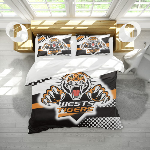 NRL Wests Tigers Edition Duvet Cover & 2 Pillow Cases Bedding Sets