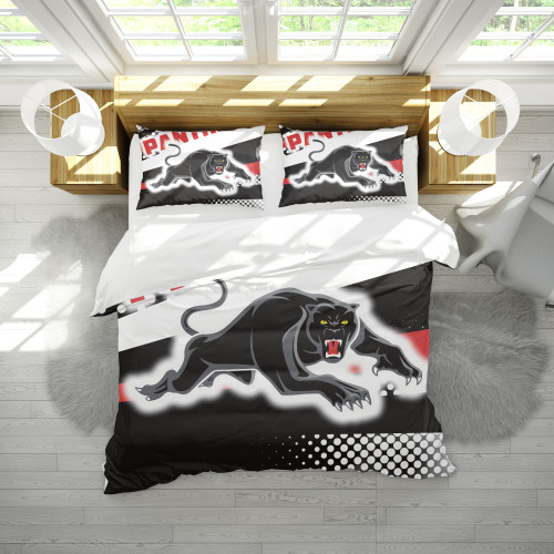 NRL Penrith Panthers Edition Duvet Cover & 2 Pillow Cases Bedding Sets