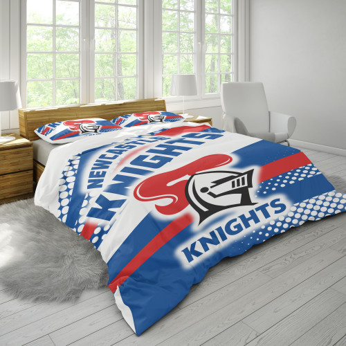 NRL Newcastle Knights Edition Duvet Cover & 2 Pillow Cases Bedding Sets