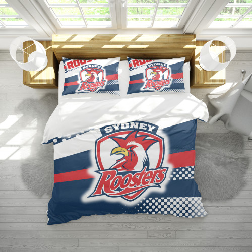 NRL Sydney Roosters Edition Duvet Cover & 2 Pillow Cases Bedding Sets
