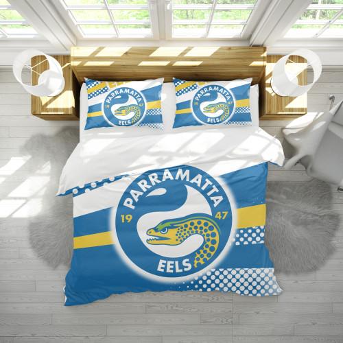NRL Parramatta Eels Edition Duvet Cover & 2 Pillow Cases Bedding Sets
