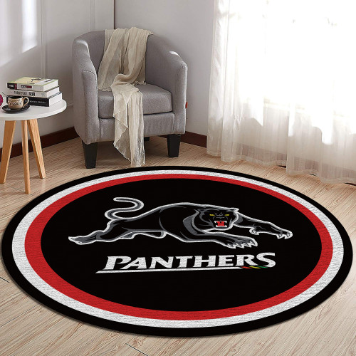 NRL Penrith Panthers Edition Round Rugs & Carpets