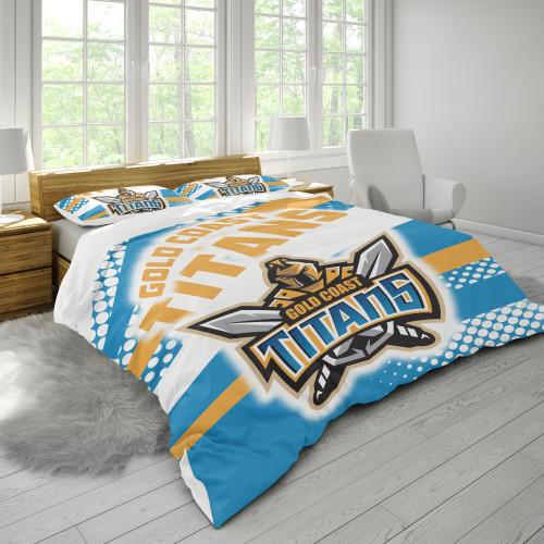 NRL Gold Coast Titans Edition Duvet Cover & 2 Pillow Cases Bedding Sets