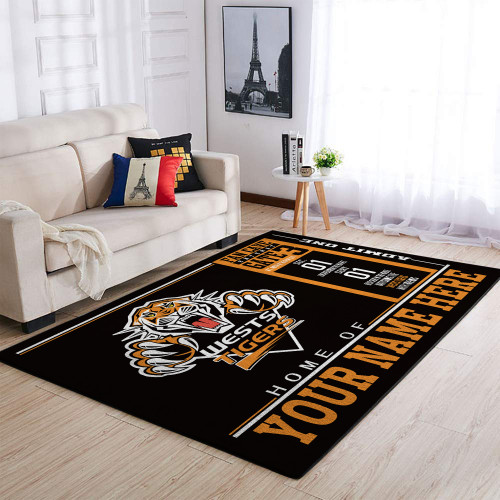 Custom NRL Wests Tigers Edition Carpet & Rug