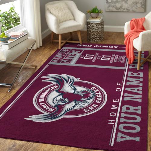 Custom NRL Manly Warringah Sea Eagles Edition Carpet & Rug