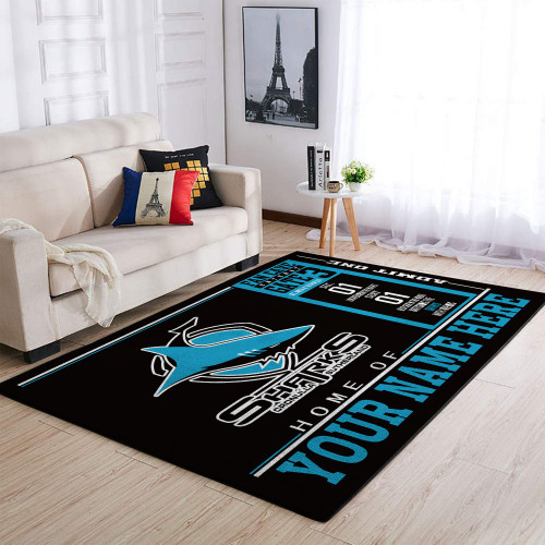 Custom NRL Cronulla-Sutherland Sharks Edition Carpet & Rug
