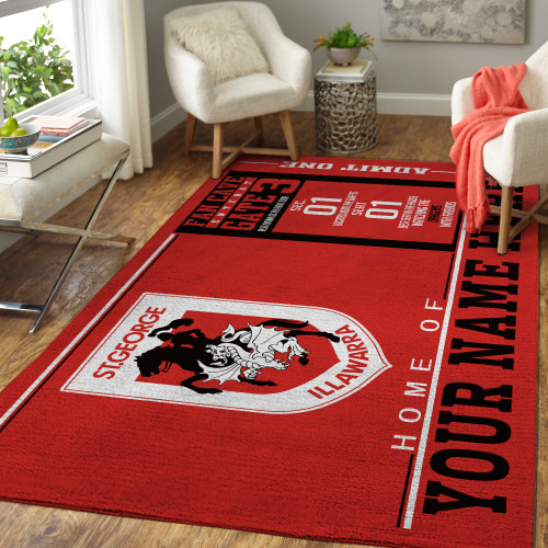Custom NRL St. George Illawarra Dragons Edition Carpet & Rug
