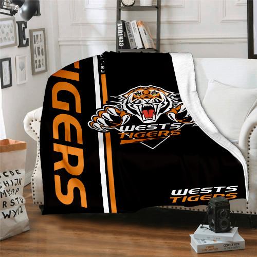 NRL Wests Tigers Edition Blanket