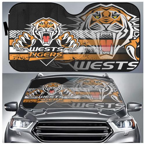 NRL Wests Tigers Edition Car Windshield Sunshade