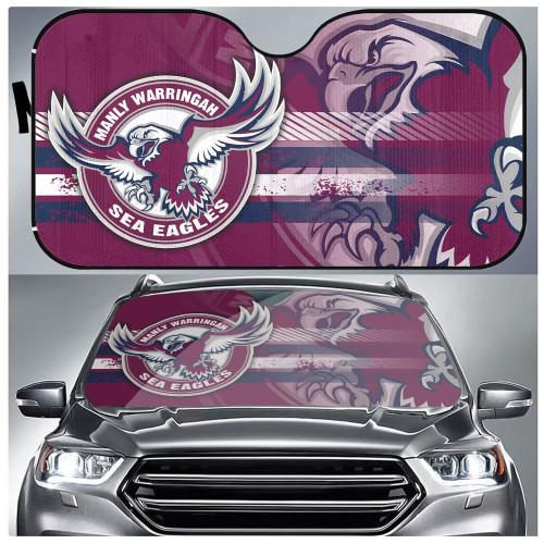 NRL Manly Warringah Sea Eagles Edition Car Windshield Sunshade