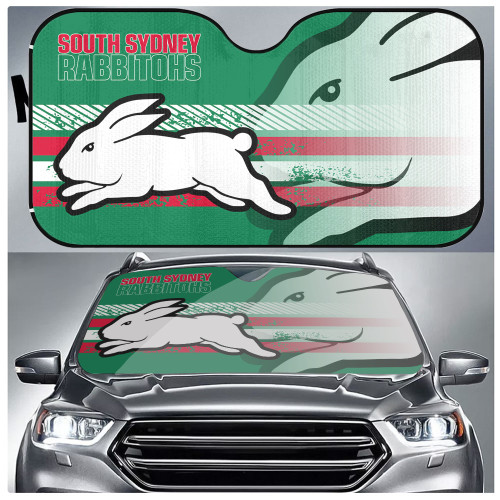 NRL South Sydney Rabbitohs Edition Car Windshield Sunshade