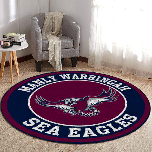 NRL Manly Warringah Sea Eagles Edition Round Rugs & Carpets