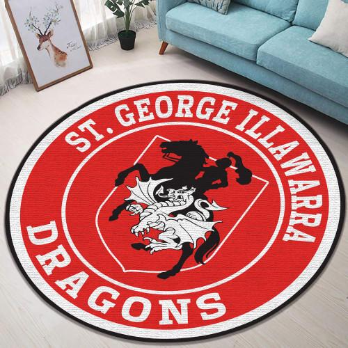 NRL St. George Illawarra Dragons Edition Round Rugs & Carpets