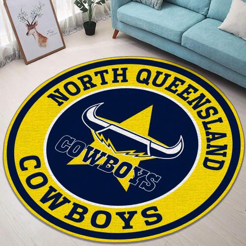 NRL North Queensland Cowboys Edition Round Rugs & Carpets