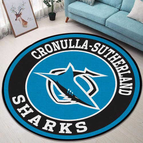 NRL Cronulla-Sutherland Sharks Edition Round Rugs & Carpets