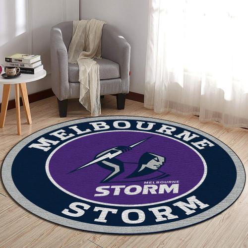 NRL Melbourne Storm Edition Round Rugs & Carpets