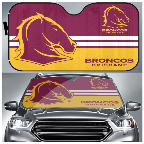 NRL Brisbane Broncos Edition Car Windshield Sunshade
