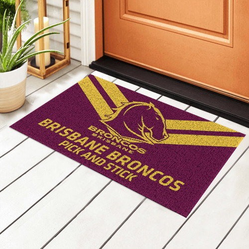 NRL Brisbane Broncos Edition Edition Waterproof Welcome Door Mat