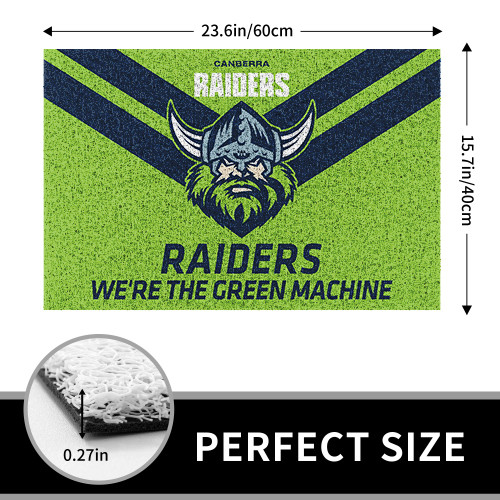 NRL Canberra Raiders Edition Edition Waterproof Welcome Door Mat