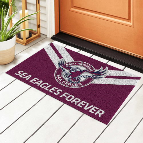 NRL Manly Warringah Sea Eagles Edition Edition Waterproof Welcome Door Mat