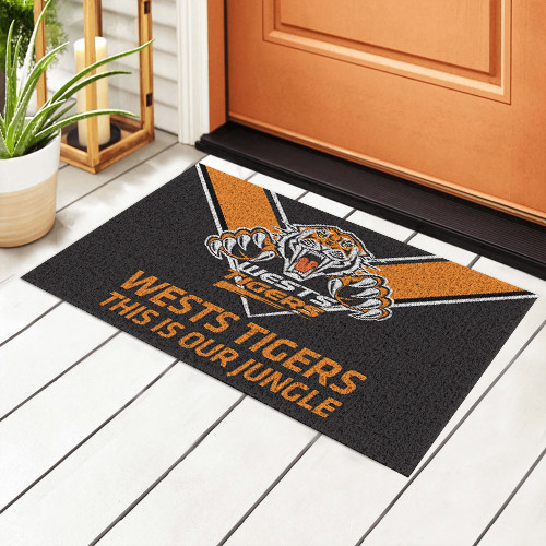 NRL Wests Tigers Edition Edition Waterproof Welcome Door Mat