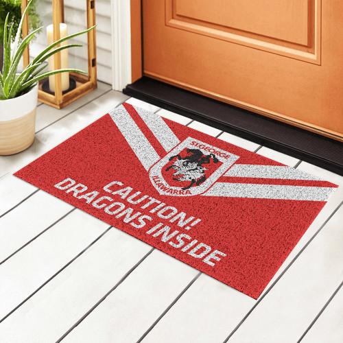 NRL St. George Illawarra Dragons Edition Edition Waterproof Welcome Door Mat
