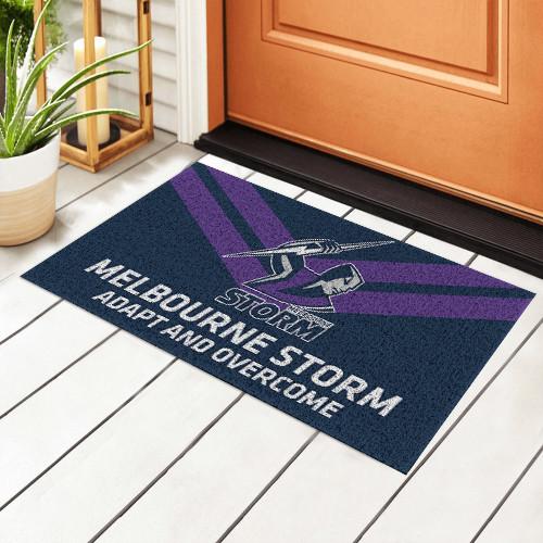 NRL Melbourne Storm Edition Edition Waterproof Welcome Door Mat