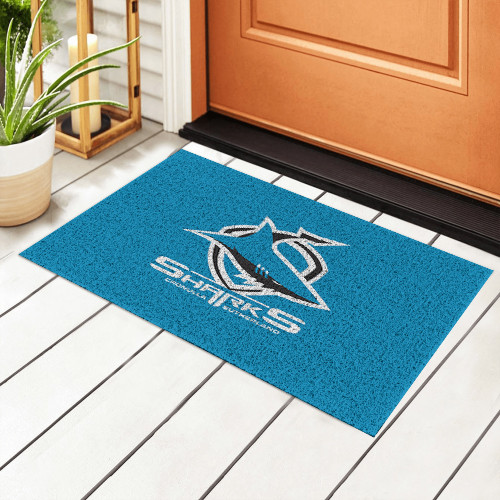 NRL Cronulla-Sutherland Sharks Edition Waterproof Welcome Door Mat