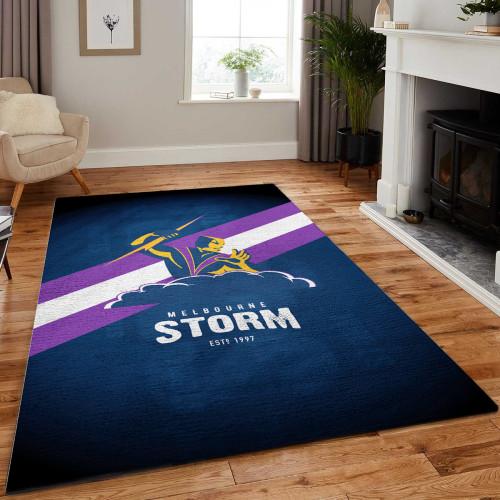 NRL Melbourne Storm Edition Carpet & Rug