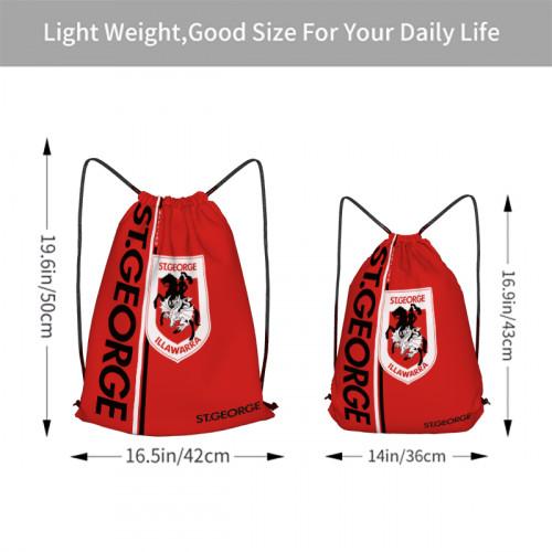 NRL St. George Illawarra Dragons Edition Drawstring Backpack Sports Gym Bag