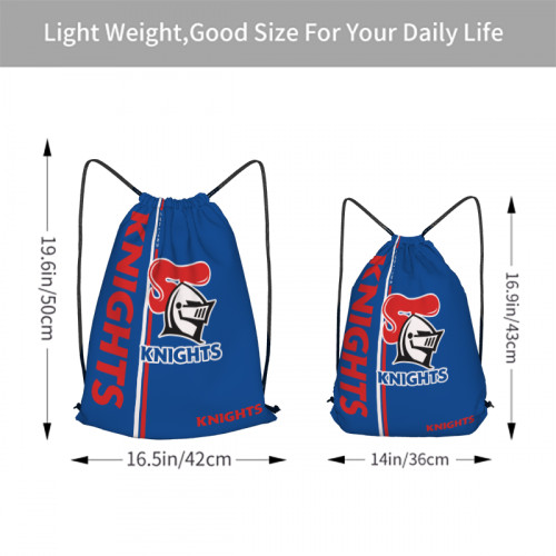 NRL Newcastle Knights Edition Drawstring Backpack Sports Gym Bag