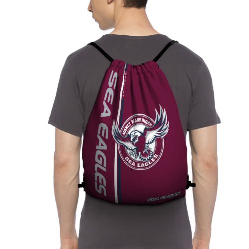 NRL Manly Warringah Sea Eagles Edition Drawstring Backpack Sports Gym Bag