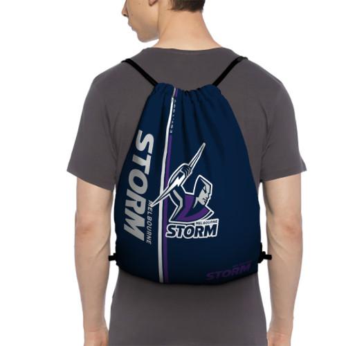 NRL Melbourne Storm Edition Drawstring Backpack Sports Gym Bag