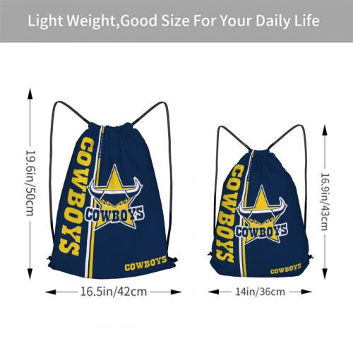 NRL North Queensland Cowboys Edition Drawstring Backpack Sports Gym Bag