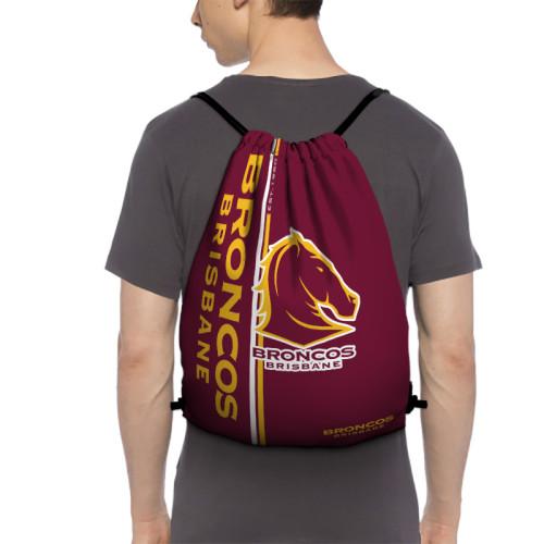 NRL Brisbane Broncos Edition Drawstring Backpack Sports Gym Bag
