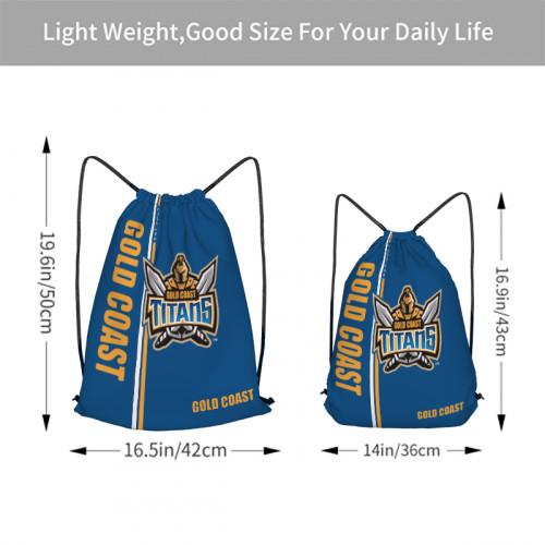 NRL Gold Coast Titans Edition Drawstring Backpack Sports Gym Bag